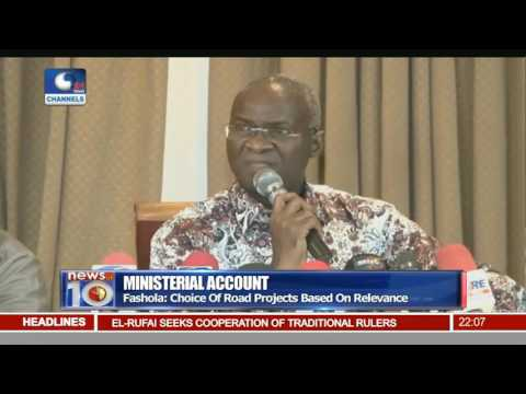 Ministerial Account: Fashola Presents First Year Report