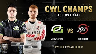 Optic Gaming vs 100 Thieves | CWL Champs 2019 | Day 5