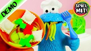 PLAY DOH NUDELMASCHINE MIT MEISTER-CHEF KRÜMELMONSTER! Play Doh Küchen Kreationen - Knete Deutsch