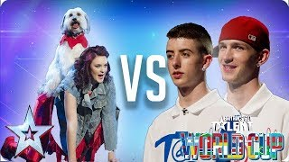 QUARTER FINALS: Ashleigh & Pudsey vs Twist & Pulse | Britain's Got Talent World Cup 2018 - Video Youtube