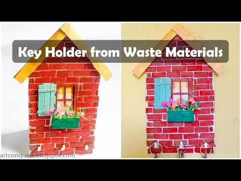 Key Holder from Waste materials