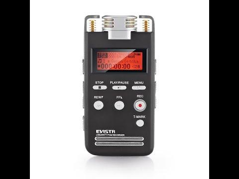 Recensione ITA Registratore vocale EVISTR 8GB digitale e dittafono portatile, di alta qualità