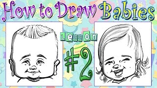 How To Draw Quick Caricature Of Babies