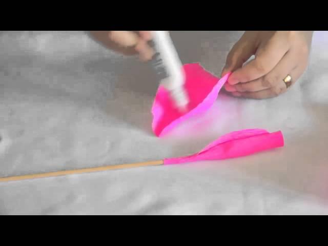 Como Fazer Flores De Papel Crepom Cantinho Do Video