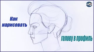 Смотреть онлайн Учимся рисовать голову человека в профиль