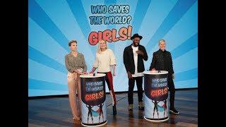 Scarlett Johansson & Brie Larson Play 'Who Saves the World? Girls!'