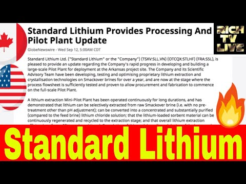 Stocks to watch: Standard Lithium (TSXV:SLL.VN) (OTCQX:STLHF) (FRA:S5L)