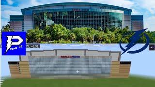Tampa Bay Lightning's Stadium Amalie Arena-Minecraft