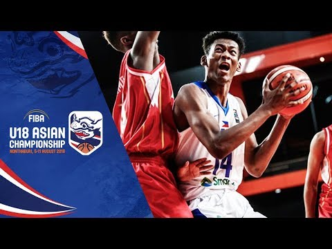 AJ Edu s Highlights (Double-Double) vs. Bahrain - FIBA U18 Asia Championship  2018 8857c8b8e0e29