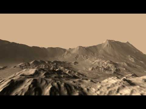Mojave Crater Wall HiRISE DEM Animation