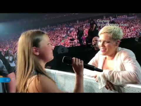 12 Year Old Vancouver Girl Sings With P!nk! Mp3