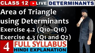 4(D) || Exercise 4.2 (Q10 to Q16) Determinants Class 12 JEE Mains