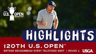 2020 U.S. Open, Round 4: Bryson DeChambeau- Every Televised Shot