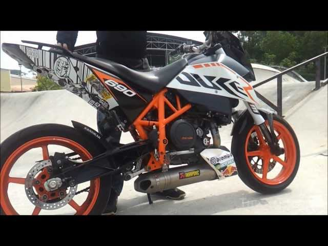 2011 ktm duke 690 akrapovic full race exhaust. Black Bedroom Furniture Sets. Home Design Ideas