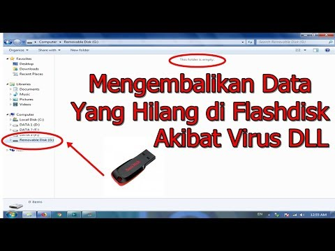 Cara Mengembalikan Data di flashdisk akibat hiden file atau virus shorcut