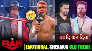 Undertaker RETURNS to RAW, Cody EMOTIONAL*, Sheamus OLD Theme, Roman Reigns, Raw Ratings 2020