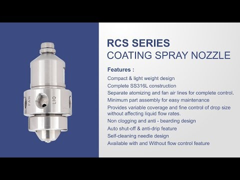 Tablet Coating Spray Nozzles RC Series