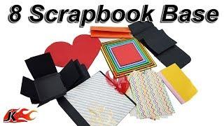 8 Scrapbook  Bases | How To Make A Base Of A Scrapbook | JK Arts 1510