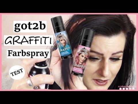 TEST got2b GRAFFITI Farbspray auf dunklen Haaren | TOP👍 oder FLOP👎