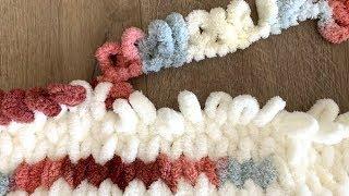 How to Make a Loop Yarn Blanket