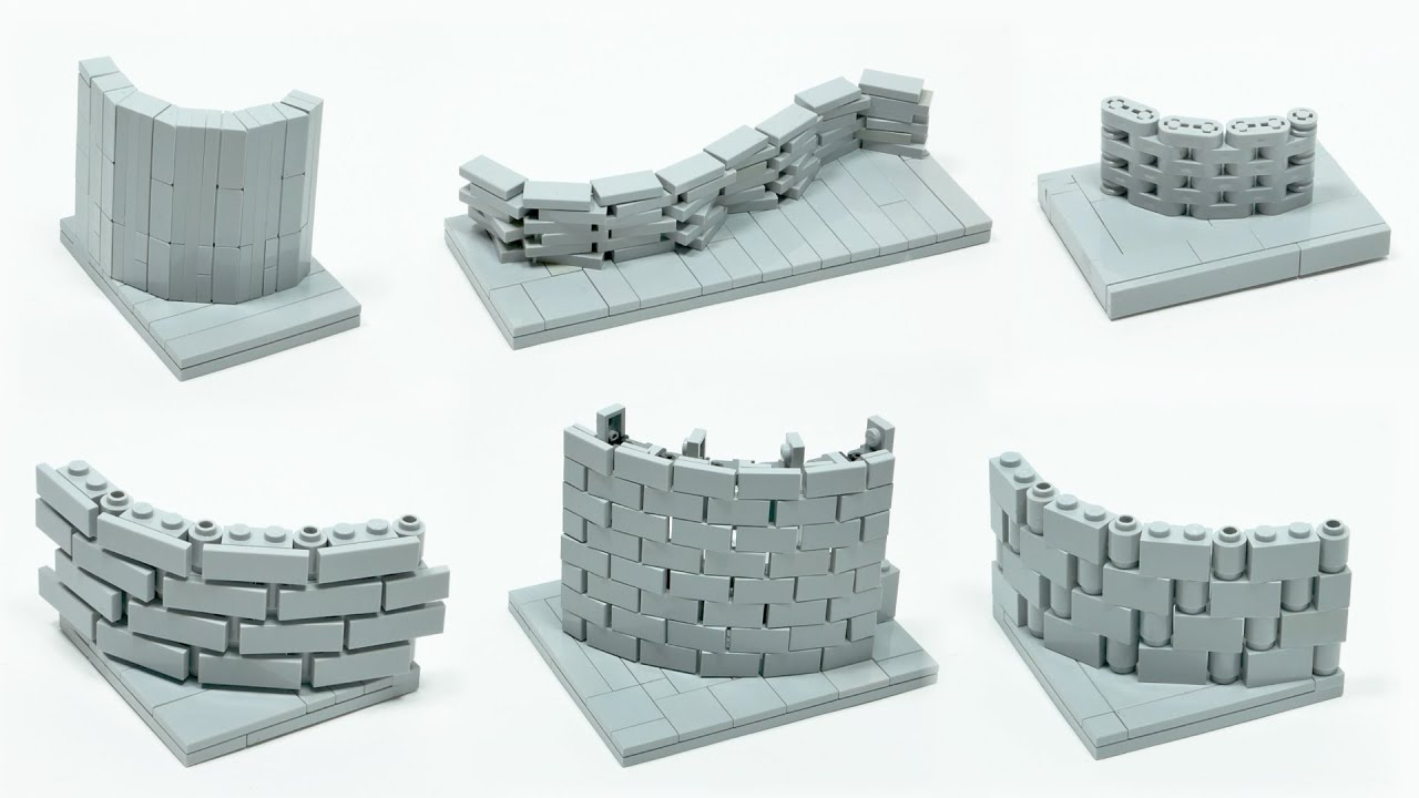 LEGO TUTORIAL - CURVED WALLS - LEGO ARCHITECTURE
