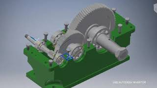 Gear Box Simulation - Autodesk Inventor 2017