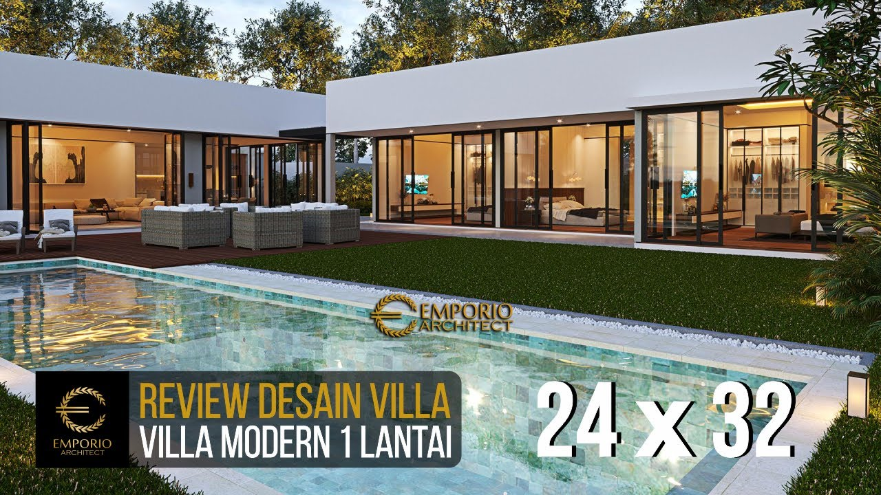 Video 3D Mrs. Natalia Modern Villa 1 Floor Design - Bali