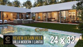 Video Desain Villa Modern 1 Lantai Ibu Natalia di  Bali