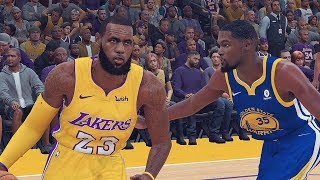 NBA 2K19 ROSTERS│WARRIORS VS LAKERS │LeBRON IN LA!