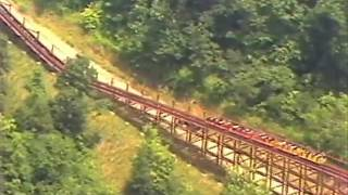 Riders on The Beast at Kings Island, 1979