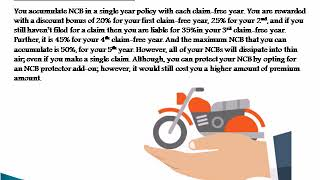 How does NCB in long-term two wheeler insurance work