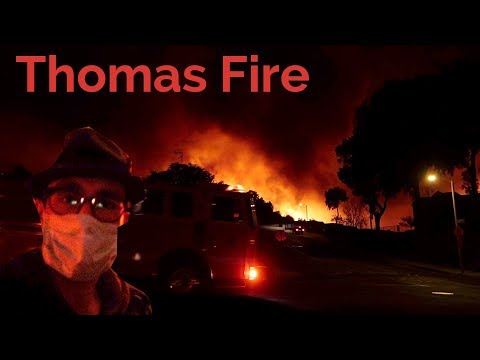 1st-Person Raw: Thomas Fire: Helicopters, Fires, Soot -- Ventura on Fire! :