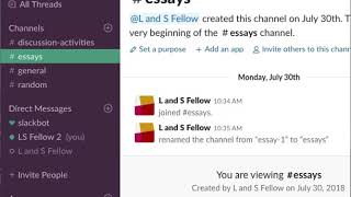 Join a Channel in Slack