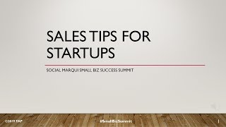 Sales Tips for Start-ups