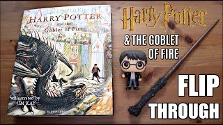 Harry Potter And The Goblet Of Fire Illustrated Edition | Flip Through ⚡️