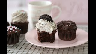 CHOCOLATE CUPCAKE WITH GANACHE & OREO CREAM