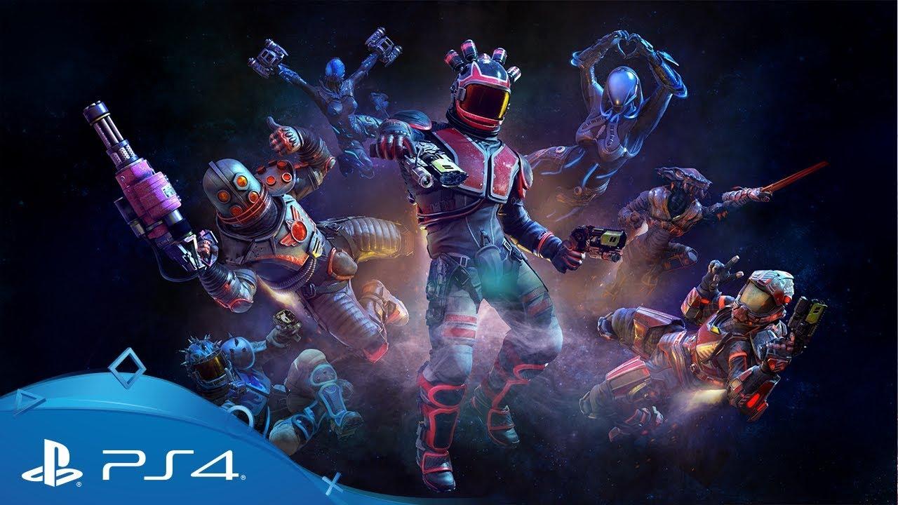 Allacciati il jetpack ed entra nell'arena competitiva per PS VR di Space Junkies, in uscita il 26 marzo