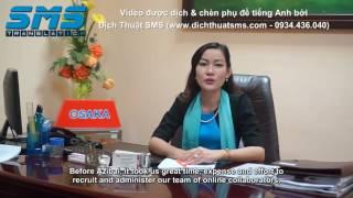 [Video giới thiệu sản phẩm Azibai] Dịch Việt - Anh và chèn phụ đề tiếng Anh