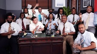 """Migos, Jimmy Fallon & The Roots Perform """"Bad And Boujee"""" With Office Supplies"""