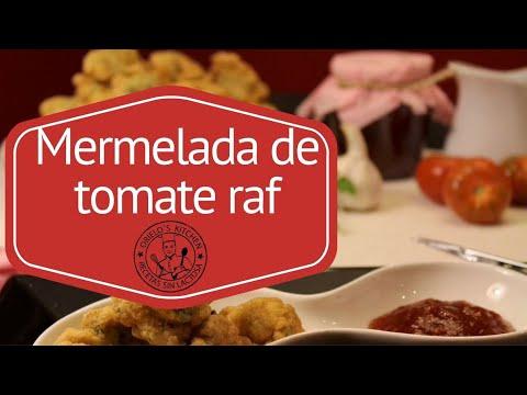 Bunuelos de bacalao con mermelada de tomate raf