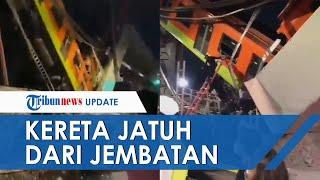 Detik-detik Kereta Metro Jatuh karena Jembatan Ambruk, Belasan Orang Tewas dan Puluhan Terluka