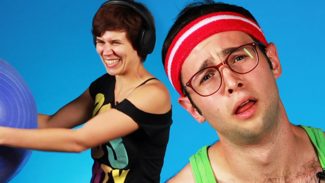People Try '80s Workout Video Moves thumbnail