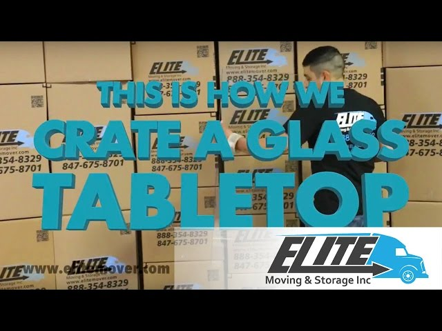 How To Crate a Glass Table Top When You Are Moving