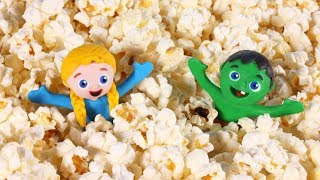 FUNNY KIDS MAKE POPCORN ❤ Play Doh Cartoons For Kids
