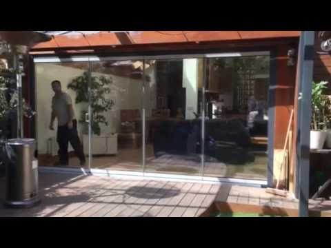 video of frameless doors