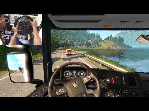 Scania S730 - 55T Special Transport | Euro Truck Simulator 2 | Logitech g29 gameplay