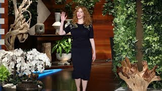 Christina Hendricks Is A Groomsmaid In Beth Behrs Wedding