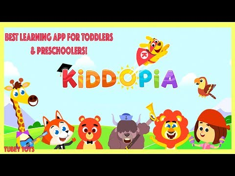 Kiddopia Learning App Review Best Learning App for Toddlers Children's Tech App Tubey Toys