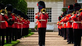 video: Watch: Prince Charles gets royal band to play 'Three Lions' ahead of England Euros semi-final