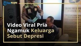 Viral Video Pria Ngamuk Sambil Bongkar Water Barrier, Keluarga Sebut Alami Depresi